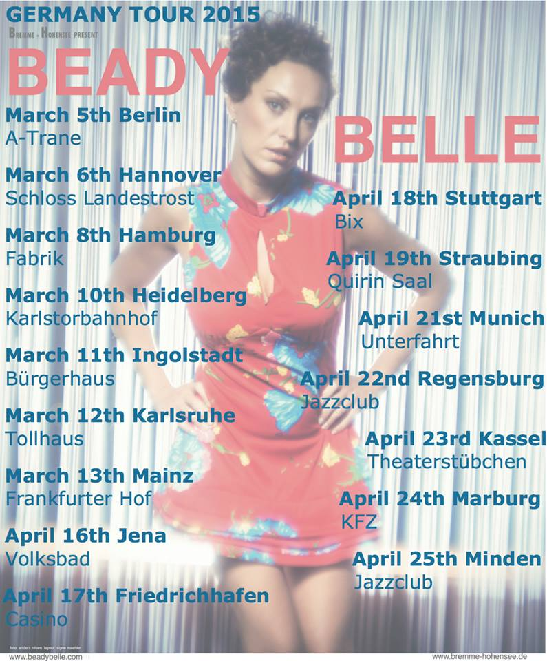beady belle germany tour 2015