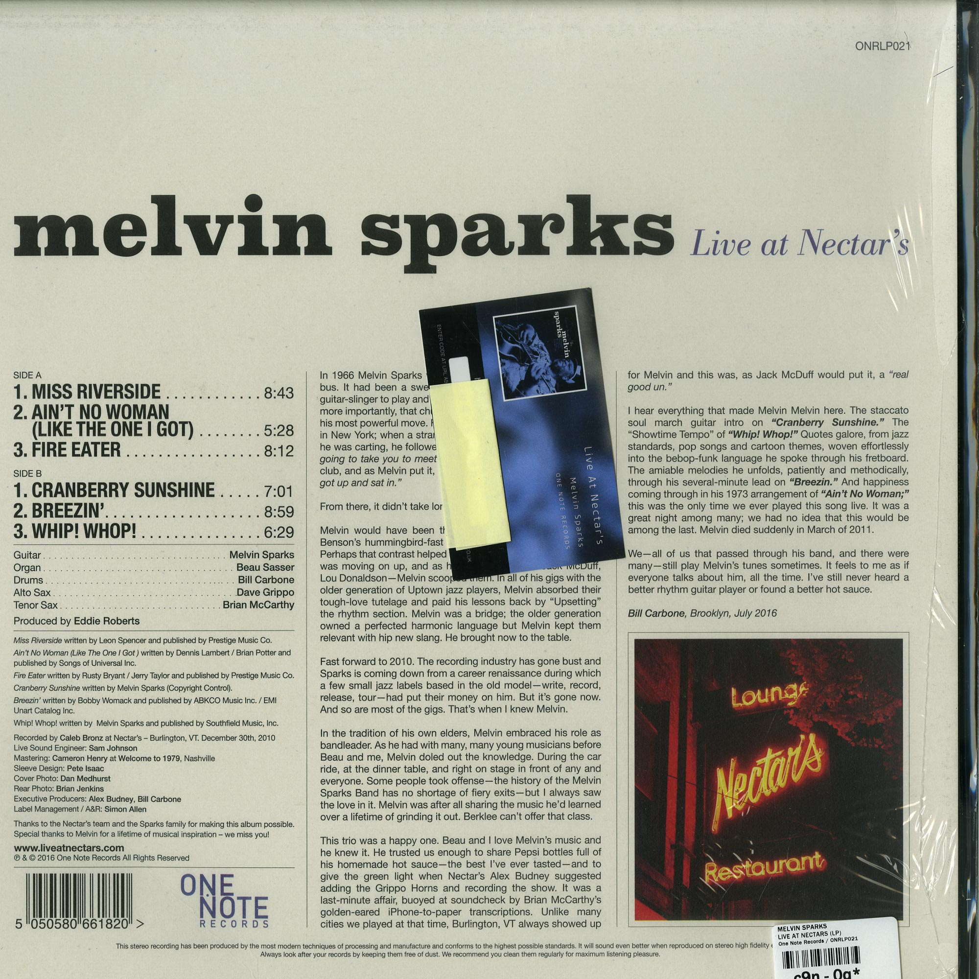 Melvin Sparks - Live at Nectar's (2010) // full Album stream
