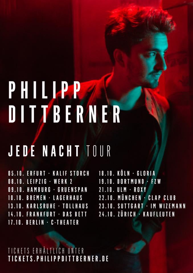 SOULGURU verlost 1x2 Tickets für ein PHILIPP DITTBERNER Konzert in einer Stadt nach Wahl!