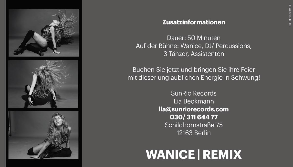WANICE | REMIX - ELECTRO MUSIC WITH BEATS FROM BRAZIL