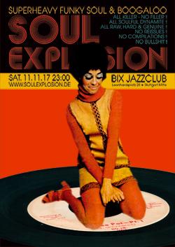 SOUL EXPLOSION am SA 11.11.17 im BIX Jazzclub Stuttgart
