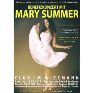 Veranstaltungstipp: Benefizkonzert mit Mary Summer in Stuttgart!