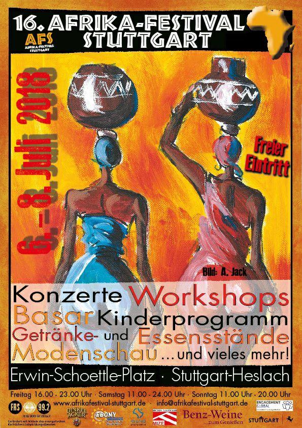 Veranstaltungstipp: 16. Afrika-Festival Stuttgart 6.-8. Juli 2018