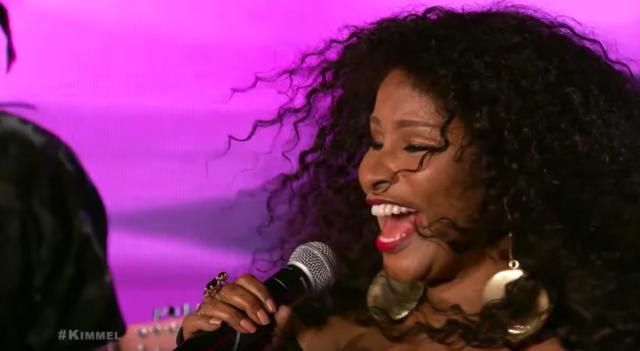 "Chaka Khan performs ""I'm Every Woman"" on Jimmy Kimmel Live (Video)"