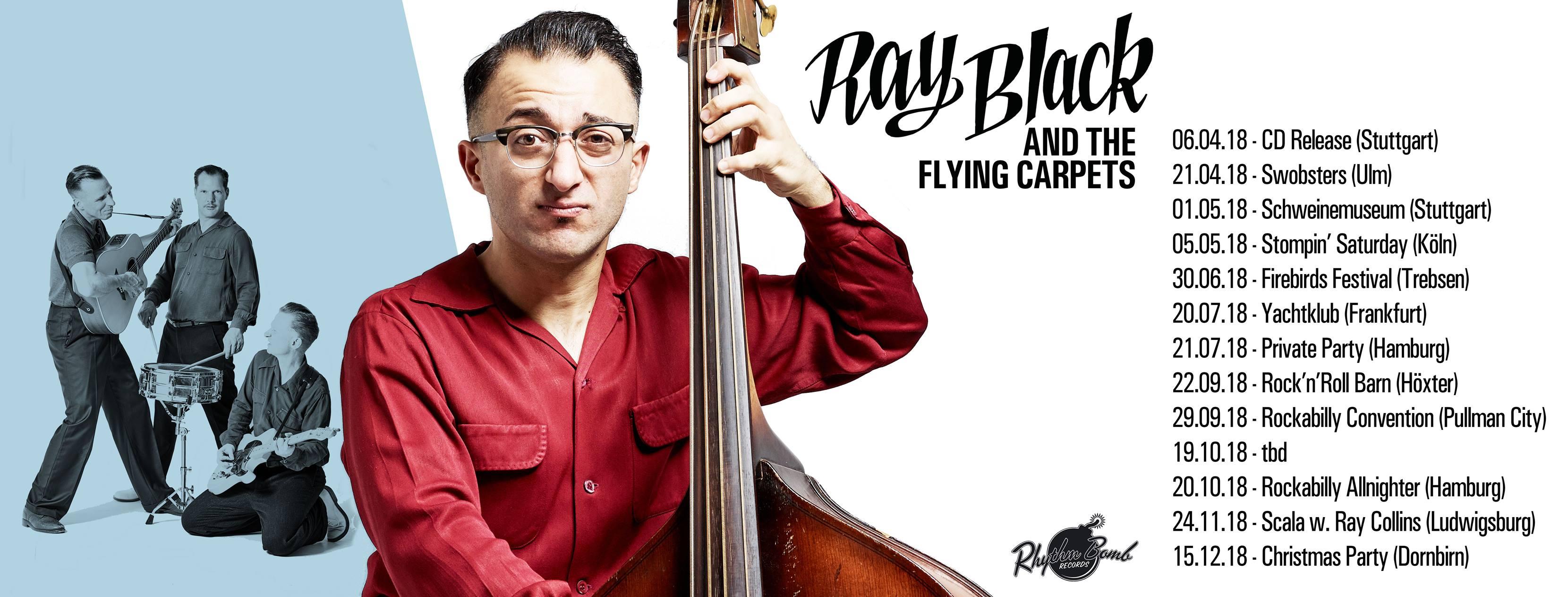 Better Way To Move - Debütalbum des Rockabilly-Quartetts RAY BLACK & THE FLYING CARPETS aus Calw bei Stuttgart // full Album stream + Tourdaten