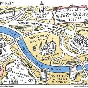 Stadtplan von JEDER europäischen Großstadt in #europe • #travel #maps #cartophilia