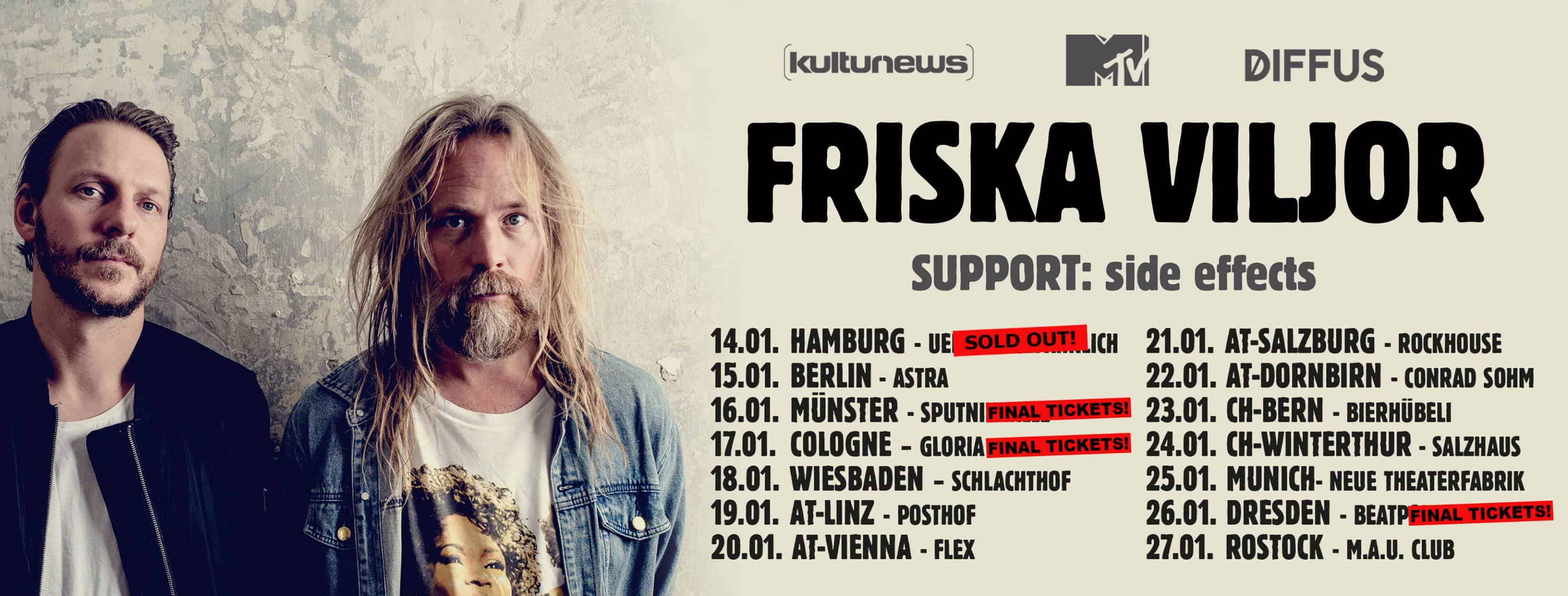 Happy Releaseday: Friska Viljor - #Broken • Video + Album-Stream + Tourdaten