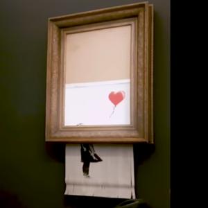 """++ NEWS ++ Stuttgart ++ Banksys Schredderbild """"Girl and Balloon"""" kommt dauerhaft als Leihgabe in die Stuttgarter Staatsgalerie ++"""