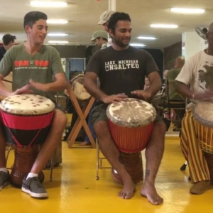 Mamady Keita plays Djembe Solo for Rhythm Kudani with TTMDA Team (Video)