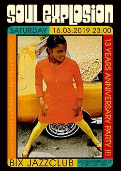 💥 Samstag 16. März 2019 💥 13 Jahre Soul Explosion Stuttgart 💥